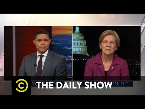 Senator Elizabeth Warren Reacts to Being Silenced The Daily Show