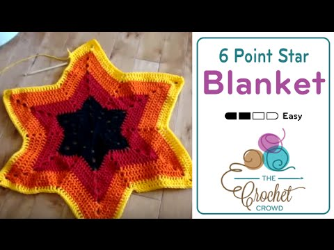 How to Crochet An Afghan: 6 Point Star