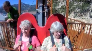 73 year-old rides Terror-Dactyl in Colorado