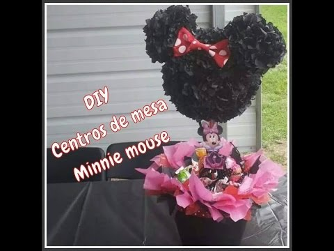 DIY Centros de mesa Minnie mouse