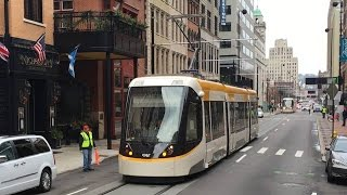 Cincinnati Street Car Tram Test Runs On Overhead Power! First Ever! Cincinnati Bell Connector!