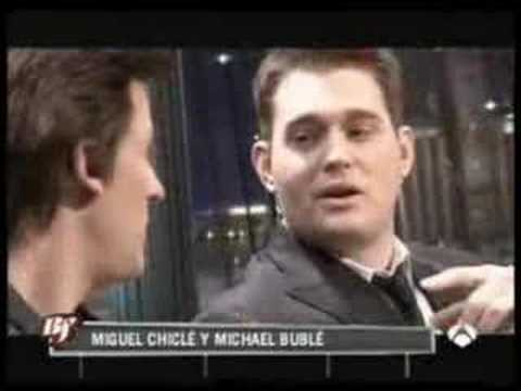 Buenafuente Miguel Chiclé le canta a Michael Bublé