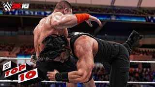 WWE 2K18 Roman Reigns Top 10 Moves!