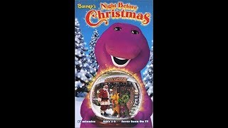 Barney's Night Before Christmas 2001 VHS (FAKE)