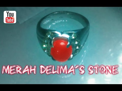 Batu Mustika Merah Delima (Ruby Stone) - Koleksi INCE SYAHRUL ANAM