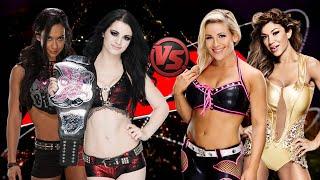 WWE Raw - AJ Lee & Paige vs Natalya & Rosa Mendes - Tag Team FULL MATCH HD