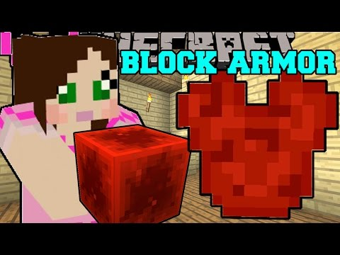 Minecraft EPIC BLOCK ARMOR CRAFT ALMOST ANY BLOCK INTO ARMOR Mod Showcase