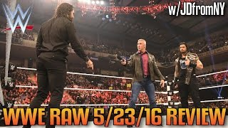 WWE Raw 5/23/16 Review: Roman Reigns vs Seth Rollins Announced For WWE Money In The Bank