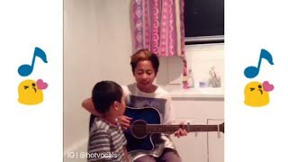 Mom Caught her two Sons Singing ❤ 🎵hotvocals