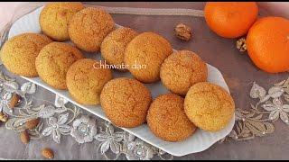 حريشات بالبرتقال والمكسرات لذيذييين هشاش | Harcha a l'orange au four