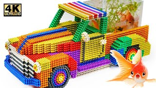 DIY - How To Make An Aquarium Truck From Magnetic Balls (Satisfying) | Magnet World Series