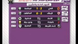 ستوديو الحياة - جدول مواعيد مباريات الدوري المصري الممتاز 2015/2016