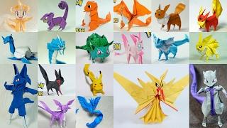 Paper Pokemon - All Origami Pokemon Timelapse by Henry Pham & Paper PH2