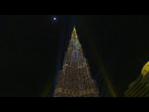 Xxx Mp4 Dubai New Year 2018 Midnight Light Show At The Burj Khalifa 3gp Sex