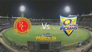 IPL Mumbai Indians vs Royal Challengers Bangalore match highlights 20 april 2016 MI Vs RCB
