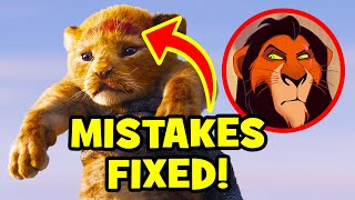 17 Disney Mistakes FIXED In THE LION KING (2019)