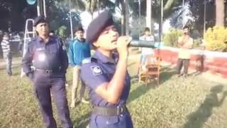 """মহিলা পুলিশ শারমি এর কন্ঠে অসাধারণ গান """"মিলন হবে কত দিনে আমার মনের মানুষের সনে""""।। BD Police News"""