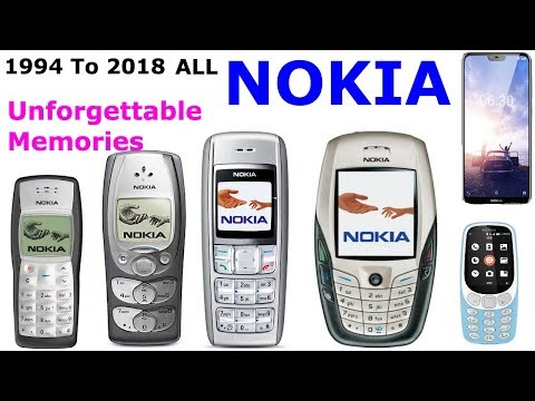 Nokia unforgettable memory ALL Nokia Mobils 1994 to 2018