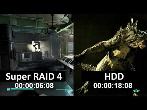 MSI Gaming desktop Aegis X3 Super Raid 4 Load games in seconds
