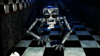 THE ANIMATRONIC ENDOSKELETON COMES TO LIFE AND CHASES ME! || Five Nights at Freddys Remastered