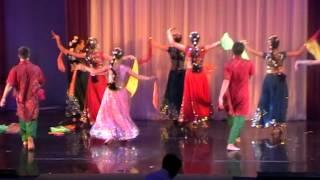 Group Saraswati from Kotlas City Russia dancing  Holi dance on Holi 2012