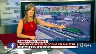 Explanation of where the shooting took place on Las Vegas Strip