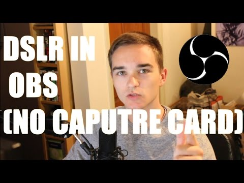 How To Use A DSLR in OBS As a Webcam No Capture Card Sparkocam