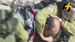 Israeli Soldiers Beat A Palestinian Man For Asking A Question