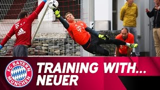 Training with Manuel Neuer | FC Bayern