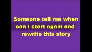 NBC Smash - Rewrite This Story (lyrics on screen)