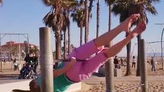 Gymnastics: How To Do A Mill Circle (Forward Stride Circle) On The Bars With Coach Meggin