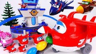 Go Super Wings Giant Jett~! Let's Deliver Surprise Eggs With Giant Jett - ToyMart TV