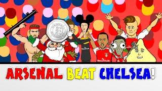 Wenger BEATS Mourinho Arsenal vs Chelsea 1-0 Community Shield 2015(Cartoon Goals Highlights)