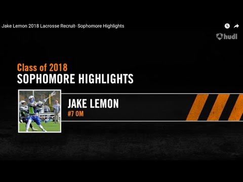 Jake Lemon 2018- Sophomore Lacrosse Highlights