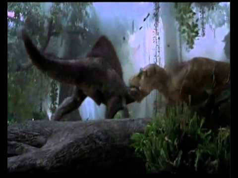 SPINO VS T. REX Jurassic Park III T. REX WIN BONUS FIGHT