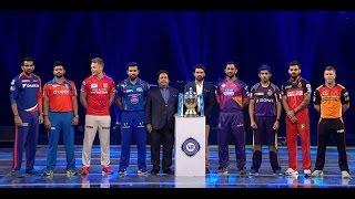 IPL 2016 Opening Ceremony: MS Dhoni,Virat Kohli Rohit ,Ranveer Singh,Katrina kaif , Honey Singh