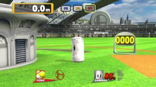Super Smash Bros. U - Homerun Contest versus (3p: Peach, Ness, Yoshi)