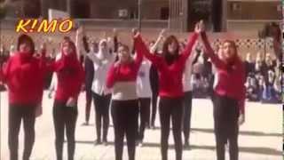 رقص في حب مصر بمدرسة صنايع في إسكندرية ( كرنفال شعبى مش مدرسة )