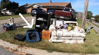 WHY WOULD THEY JUST THROW THIS ALL AWAY?! Trash Picking Ep. 191