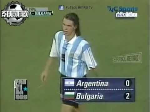 Argentina 0 vs Bulgaria 2 Mundial Usa 1994 FUTBOL RETRO TV