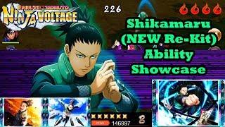 Shikamaru Nara (NEW Re-Kit) Ability Showcase   Naruto x Boruto Ninja Voltage