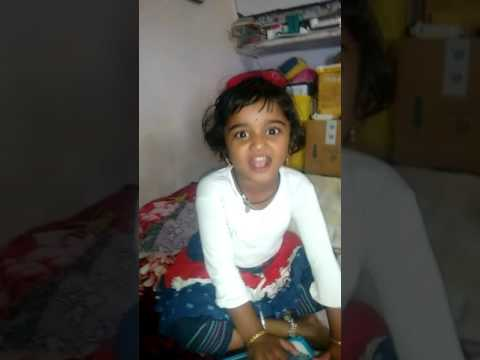 3 years girl saying Indian state capitals
