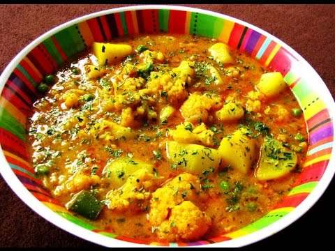 Aloo ghobi ki rasili sabji -INDIAN RECEIPE