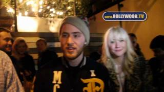 Mike Posner chats with the paparazzi at The Beverly Nightclub