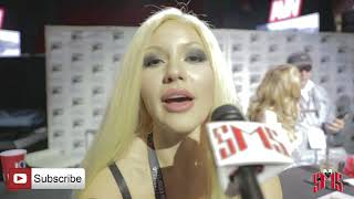 Super Sexy Kylie Page interview at AVN talk men going limp and if Size Matters