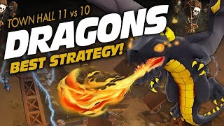 Clash of Clans: DRAGONS! BEST Way to SMASH TH10s as a TH11