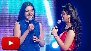 Catherine Tresa's FUNNY Act For Allu Arjun | Sarainodu Success Meet | Lehren Telugu