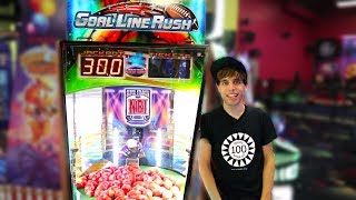 SO MANY Goal Line Rush Jackpots! Arcade Game Winning Tickets!