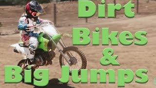KIDS RIDING DIRT BIKES & BIG JUMPS