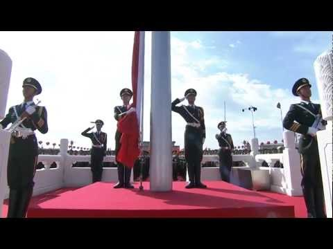 watch China Military Parade  - National Flag Raising Ceremony  - 720HD